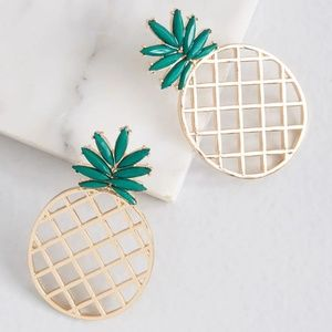 Modcloth Making Mocktails Pineapple Earrings